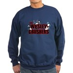 Wesley Crushers Sweatshirt (dark) - Be a part of the best bowling team for geeks - The Wesley Crushers! This merchandise will make a bang with your friends. A big one. In theory. - Availble Sizes:Small,Medium,Large,X-Large,2X-Large (+$3.00) - Availble Colors: Black,Navy