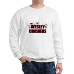 Wesley Crushers Sweatshirt - Be a part of the best bowling team for geeks - The Wesley Crushers! This merchandise will make a bang with your friends. A big one. In theory. - Availble Sizes:Small,Medium,Large,X-Large,2X-Large (+$3.00) - Availble Colors: White,Ash Grey
