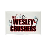 Wesley Crushers Rectangle Magnet - Be a part of the best bowling team for geeks - The Wesley Crushers! This merchandise will make a bang with your friends. A big one. In theory.