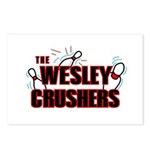 Wesley Crushers Postcards (Package of 8) - Be a part of the best bowling team for geeks - The Wesley Crushers! This merchandise will make a bang with your friends. A big one. In theory.