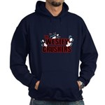 Wesley Crushers Hoodie (dark) - Be a part of the best bowling team for geeks - The Wesley Crushers! This merchandise will make a bang with your friends. A big one. In theory. - Availble Sizes:Small,Medium,Large,X-Large,2X-Large (+$3.00),3X-Large (+$3.00) - Availble Colors: Black,Navy
