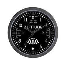 Aviation Altimeter Wall Clock