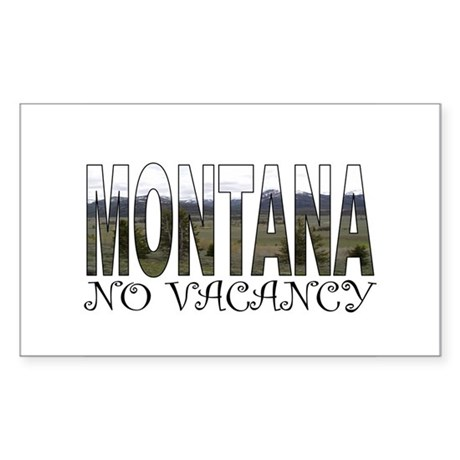 No Vacancy Sticker (Rectangle)