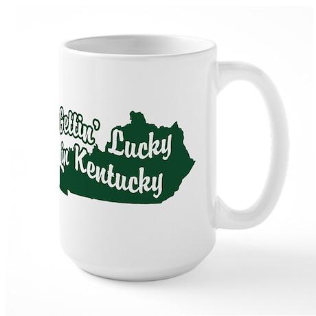 Gettin' Lucky in Kentucky Large Mug