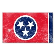 Vintage TN State Flag Decal