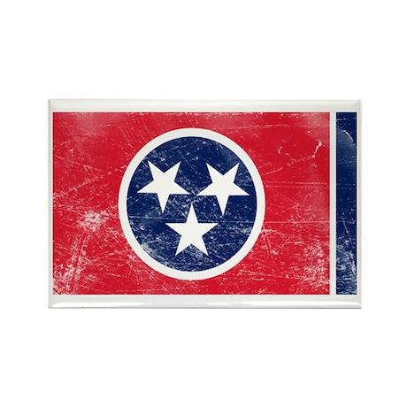 Vintage TN State Flag Rectangle Magnet
