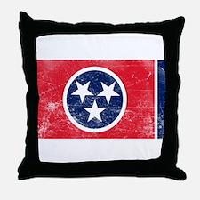 Vintage TN State Flag Throw Pillow