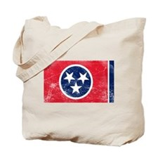 Vintage TN State Flag Tote Bag