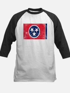 Vintage TN State Flag Kids Baseball Jersey