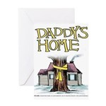 Daddy's Home Yellow Ribbon Greeting Card