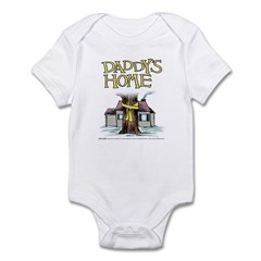 Daddy's Home Yellow Ribbon Infant Bodysuit