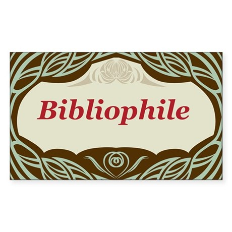 Bibliophile 3 Sticker (Rectangle)
