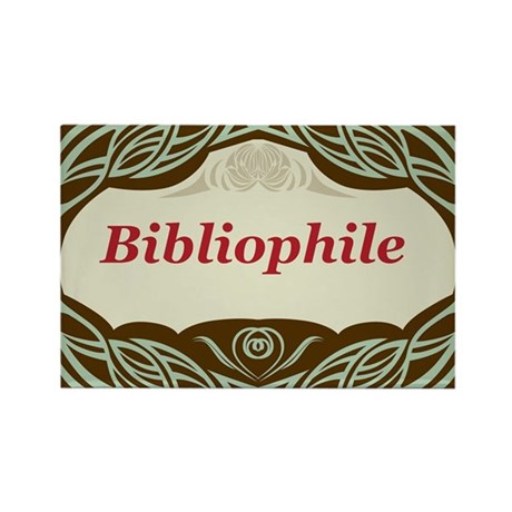 Bibliophile 3 Rectangle Magnet