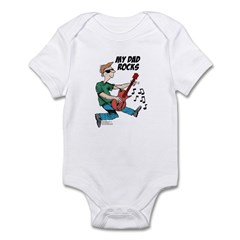 My Dad ROCKS Infant Bodysuit
