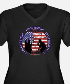 You Got To Fight For Your Rig Women's Plus Size V-