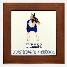 Team Toy Fox Terrier Framed Tile