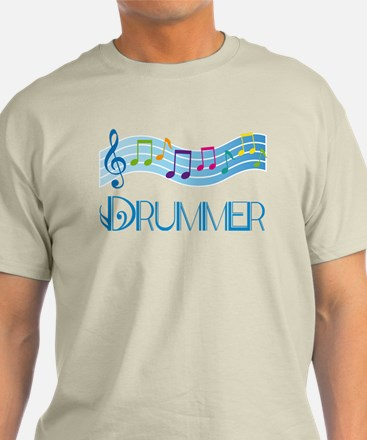 Colorful Music Drummer T-Shirt