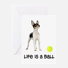 Toy Fox Terrier Life Greeting Card