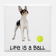 Toy Fox Terrier Life Tile Coaster