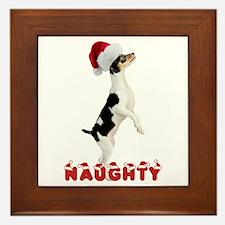 Naughty Toy Fox Terrier Framed Tile