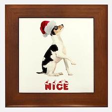Nice Toy Fox Terrier Framed Tile