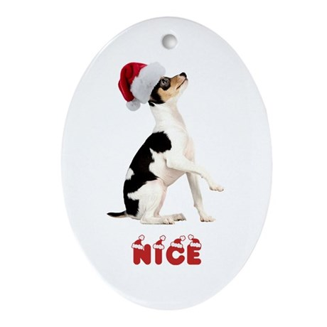 Nice Toy Fox Terrier Ornament (Oval)