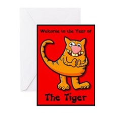 Year of the Tiger Greeting Cards (Pack of 6)