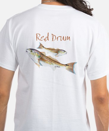 Red Drum White T-Shirt