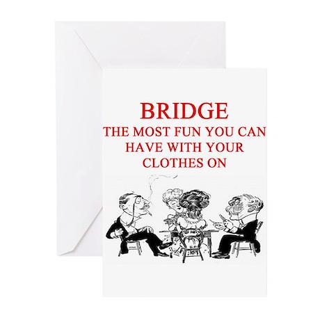 duplicate bridge player joke Greeting Cards (Pk of