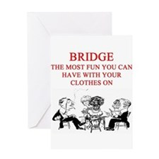 duplicate bridge player joke Greeting Card