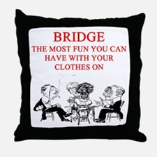 duplicate bridge player joke Throw Pillow