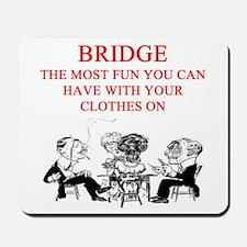 duplicate bridge player joke Mousepad