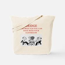 duplicate bridge player joke Tote Bag