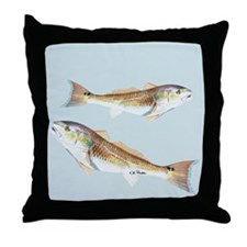 Red Drum Throw Pillow