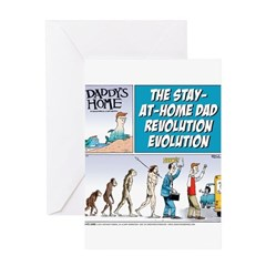 Stay-at-Home Dad Evolution Greeting Card