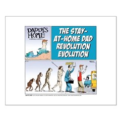 Stay-at-Home Dad Evolution Posters
