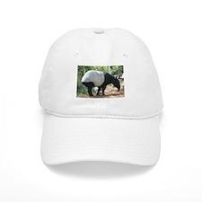 White Baseball Cap-Tapir