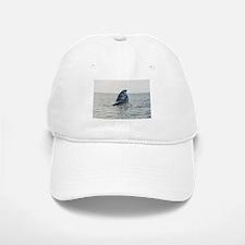 White Baseball Baseball Cap-Whale (Gray)
