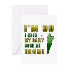 90th Birthday Golf Humor Greeting Card