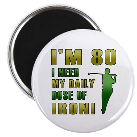 80th Birthday Golf Humor Magnet
