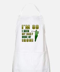 80th Birthday Golf Humor Apron