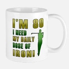 80th Birthday Golf Humor Mug