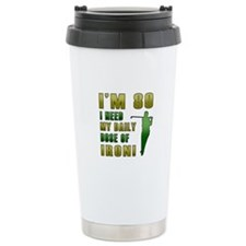 80th Birthday Golf Humor Travel Mug