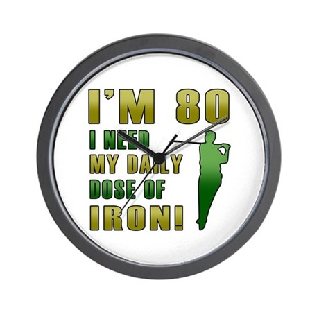 80th Birthday Golf Humor Wall Clock