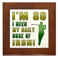 80th Birthday Golf Humor Framed Tile
