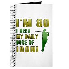 80th Birthday Golf Humor Journal