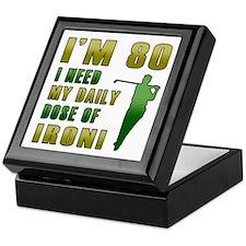80th Birthday Golf Humor Keepsake Box