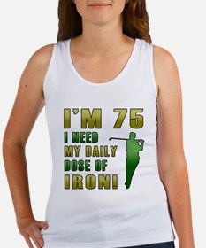 75th Birthday Golf Humor Women's Tank Top