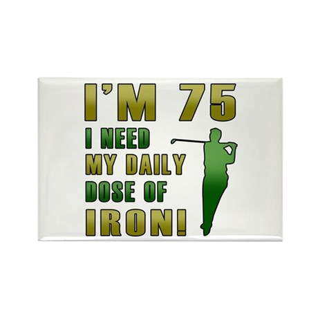 75th Birthday Golf Humor Rectangle Magnet (10 pack