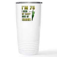 75th Birthday Golf Humor Ceramic Travel Mug